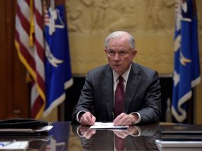 Attorney General Jeff Sessions holds a meeting with the heads of federal law enforcement