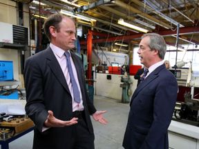 File photo dated 13/04/15 of Nigel Farage (right) with Douglas Carswell