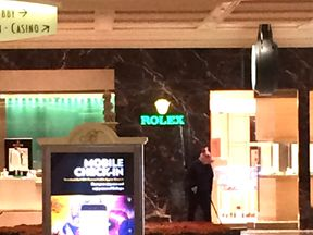 A suspected robber in a pig mask was pictured in the casino. Pic: @Kir_kamil