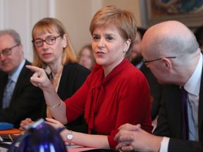 Nicola Sturgeon addressing cabinet on a second referendum