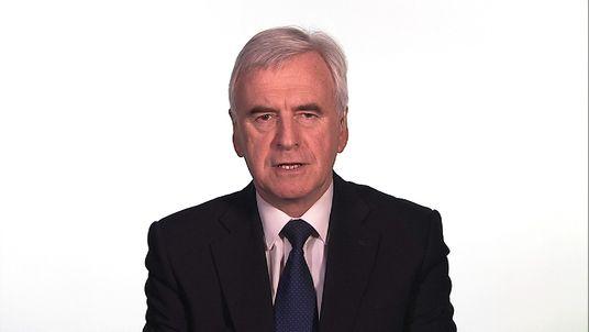 Shadow chancellor John McDonnell criticises the Budget