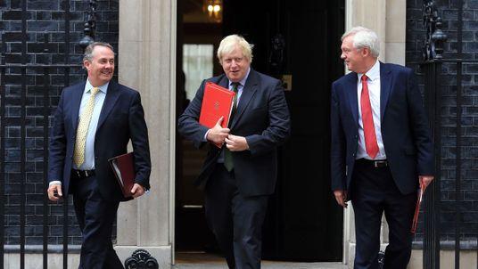 International Trade Secretary Liam Fox, Foreign Secretary Boris Johnson and Brexit Secretary David Davis