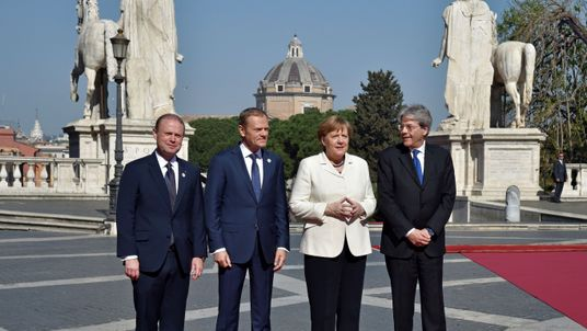European leaders including Angela Merkel gathering in Rome