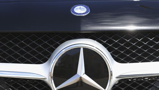 SYDNEY, AUSTRALIA - SEPTEMBER 16: Mercedes-Benz logo is seen during the launch of Mercedes-Benz Fashion Festival Sydney at Bondi Beach on September 16, 2014 in Sydney, Australia. (Photo by Ryan Pierse/Getty Images for MBFFS)