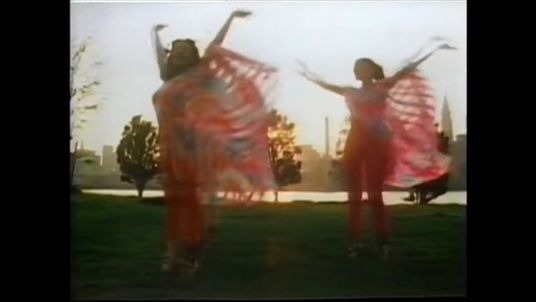 A still from Sister Sledge's We Are Family music video