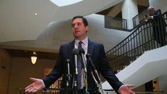 Devin Nunes talks to reporters after coming under fire for releasing information about an communication intercept