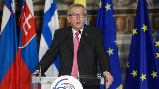 European Commission President Jean-Claude Juncker addresses the meeting