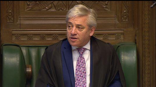 House of Commons Speaker John Bercow MP