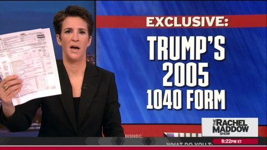 MSNBC SHOWS DONALD TRUMP'S TAX RETURNS
