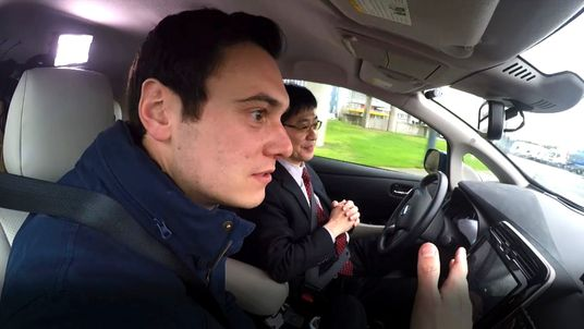 Sky's Joe Tidy get a hands-off ride with a self-driving Nissan Leaf prototype, being tested on the streets of London.