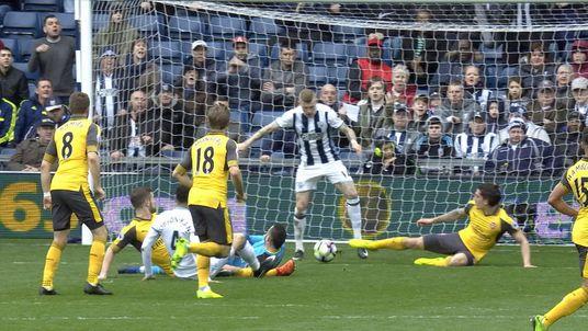 Albion goal offside?