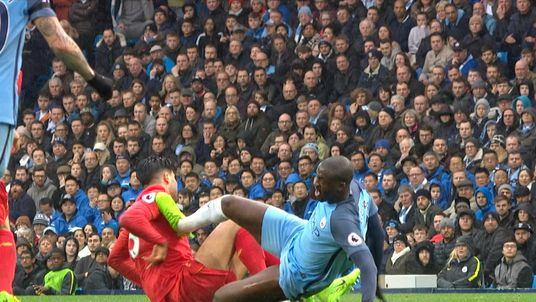 Was Yaya Toure lucky to avoid a red card against Liverpool?