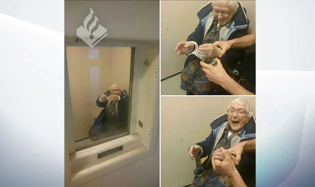 Woman, 99, has dream of being arrested come true