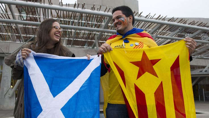 Campaigners for Catalan independence have been inspired by Scottish nationalists