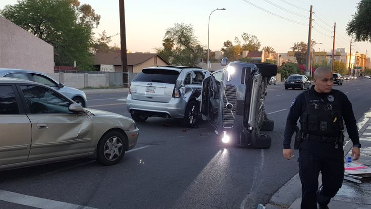 Uber Halts Self-Driving Car Tests After Arizona Crash class=