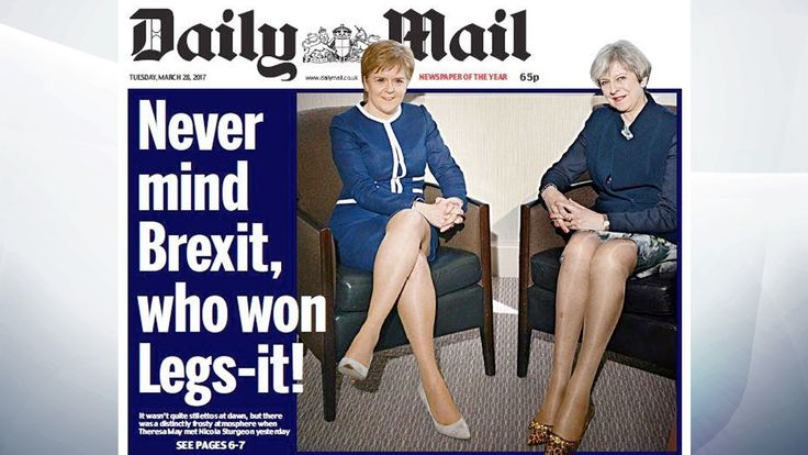 story daily mail legs headline causes outrage brand moronic sexist