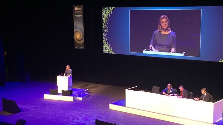 Justine Greening addresses the conference