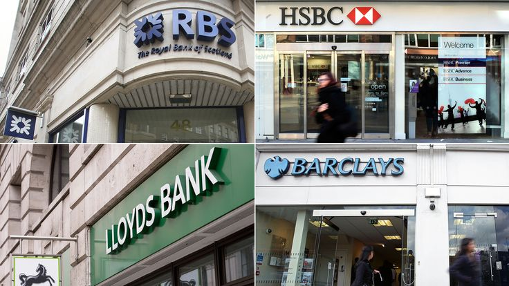 RBS, HSBC, Lloyds, and Barclays banks