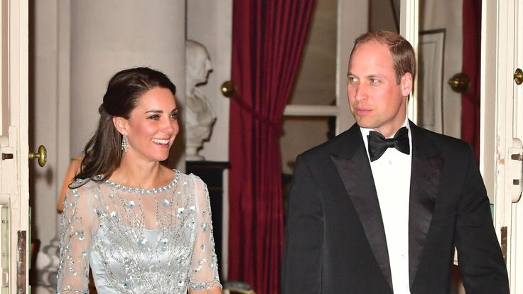 The couple arrive for a dinner hosted by Ambassador to France, Edward Llewellyn, at the British Embassy in Paris