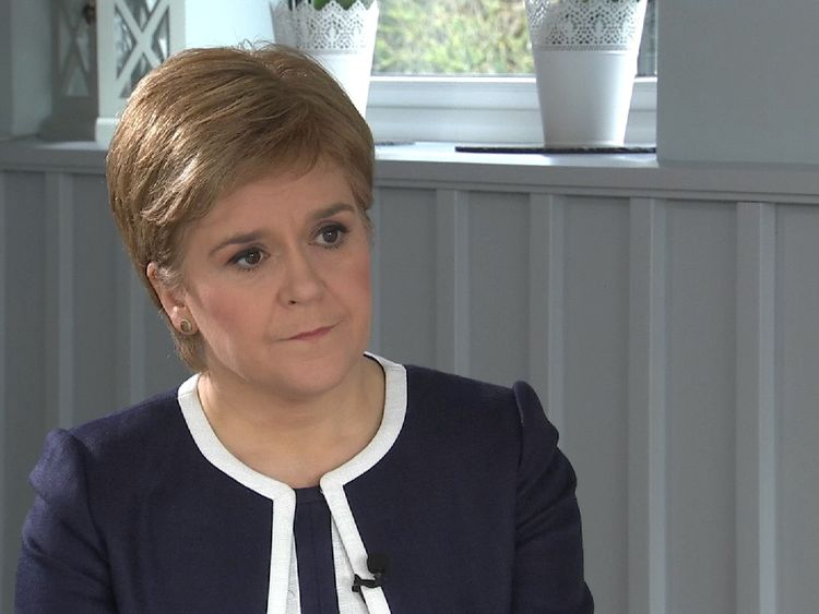 First  Minister Nicola Sturgeon says keeping the pound would be the starting point for a newly independent Scotland