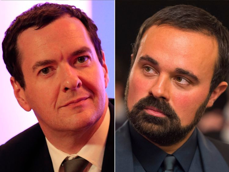 George Osborne and Evgeny Lebedev