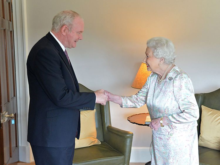 Theresa May offers condolences to Martin McGuinness' family