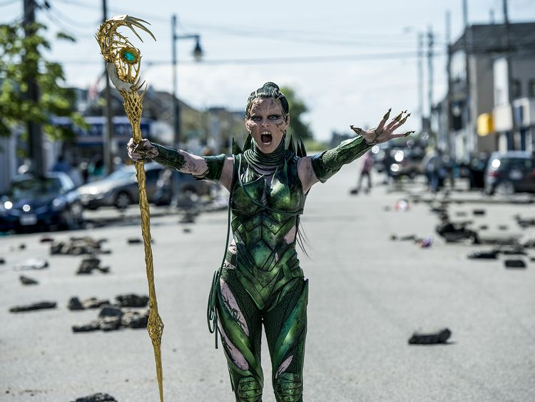 Elizabeth Banks plays Rita Repulsa, an alien invader and the ranger's arch nemesis