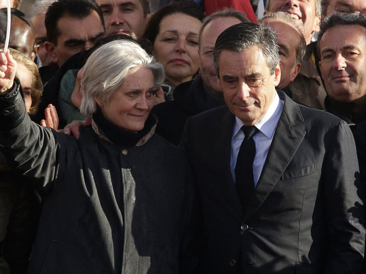 Mr Fillon allegedly gave his wife Penelope a 'fake' taxpayer-funded job