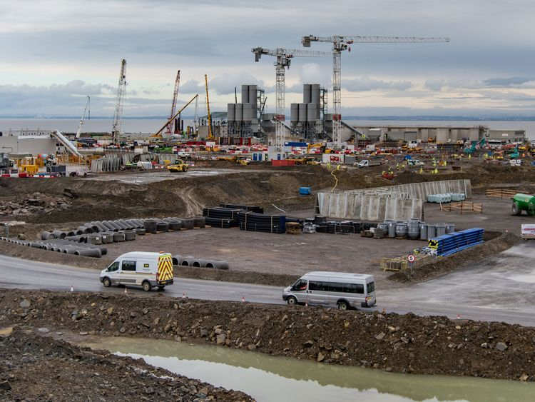 The construction site at Hinkley Point C