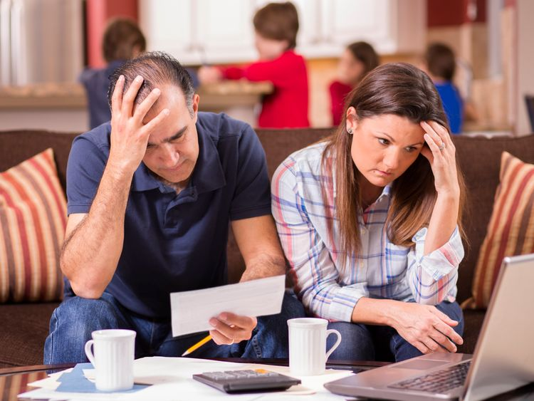 Families have been having difficulty making ends meet. File pic