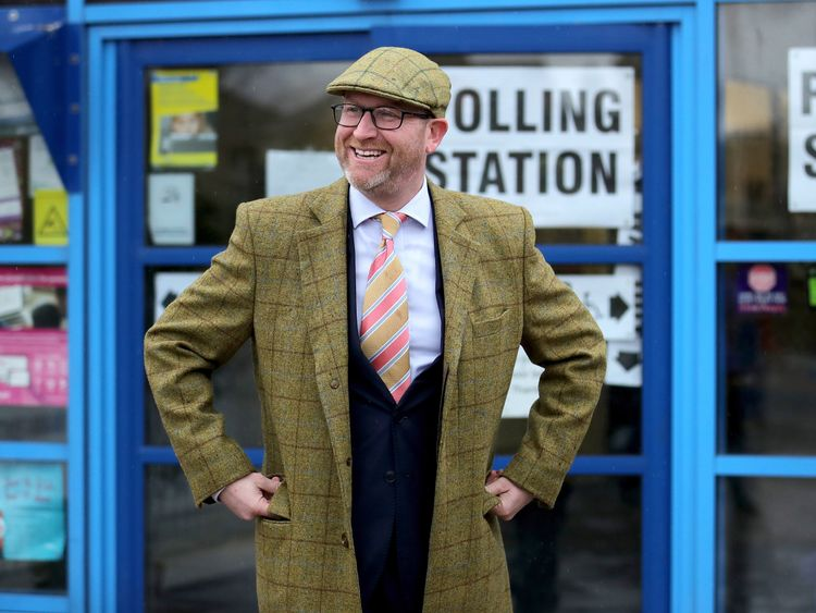 United Kingdom Independent Party (UKIP) leader Paul Nuttall canvasses for votes in Bentilee candidate after he announced that he is to stand for member of parliament in the Stoke-On-Trent Central by-election on January 21, 2017 in Stoke-on-Trent, England. The Stoke-On-Trent central by-election has been called after sitting Labour MP Tristram Hunt resigned from his seat to be a museum director
