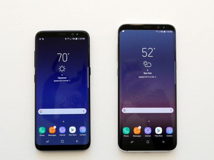 The S8 is 5.8 inches and £689 and the Plus 6.2 inches and £779