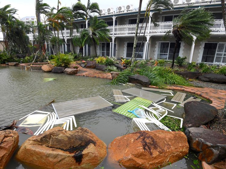Damage at Airlie Beach