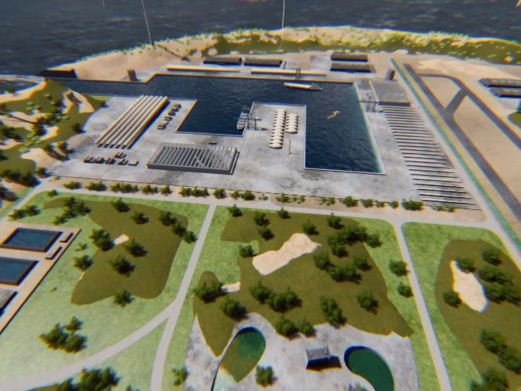 A group of European firms have announced plans to build an artificial island they say could provide power for 80 million homes. Pic: TenneT (Dutch TSO)