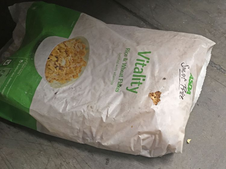 Inspectors found mouse droppings in food and nibbled packaging. Credit: Enfield Council/PA