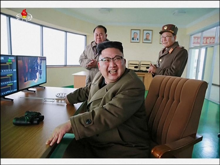 North Korea's leader watched the test