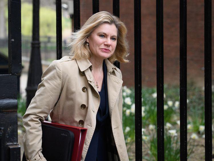 Education Secretary Justine Greening arrives at number 10, Downing Street
