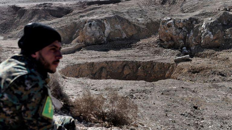 The Khasfah sinkhole near Mosul
