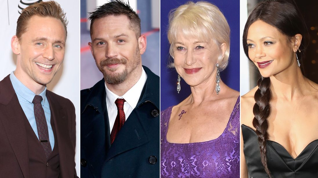 Tom Hiddleston, Tom Hardy, Helen Mirren and Thandie Newton