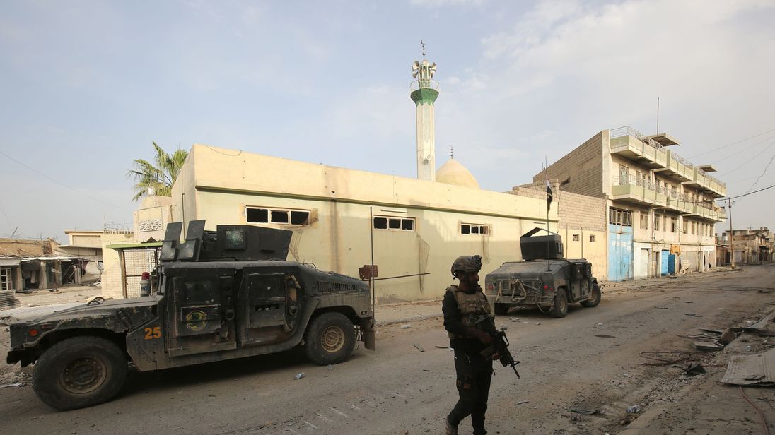 Iraqi troops near al Abar