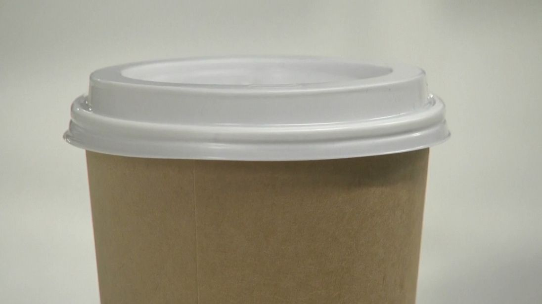 Both the cup and the lid are made of plastics that break down when composted