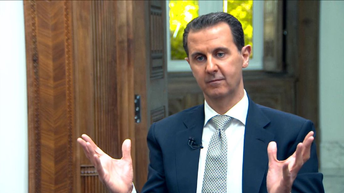 Syrian President Bashar al Assad interview by AFP