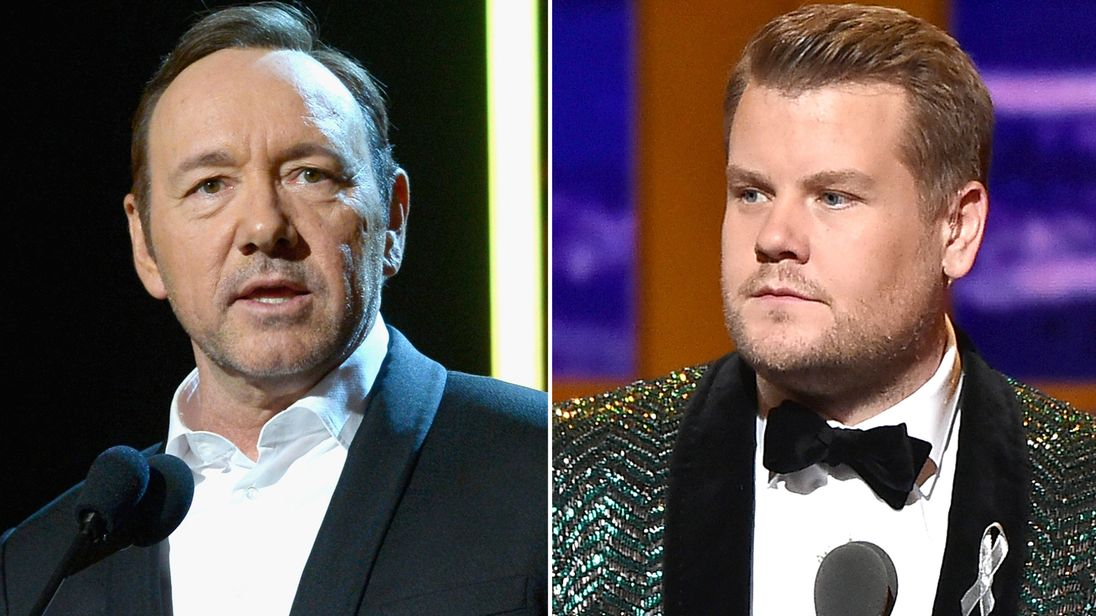 Kevin Spacey and James Corden
