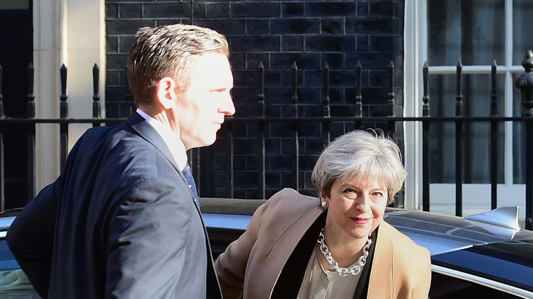 May's Conservatives lead in latest election YouGov poll