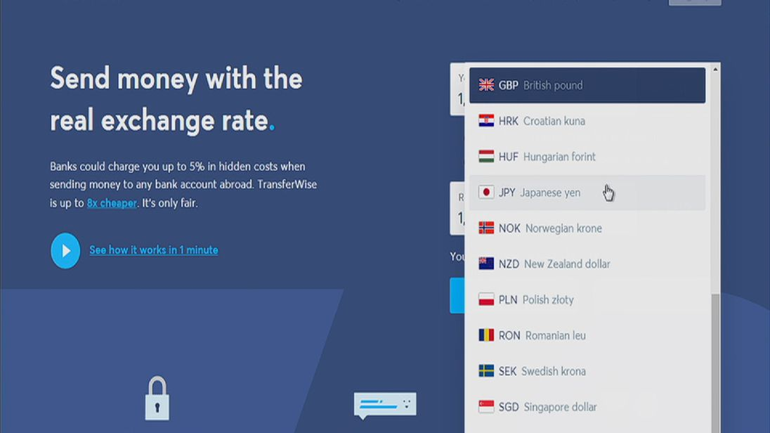 Transferwise is a London-based money transfer service