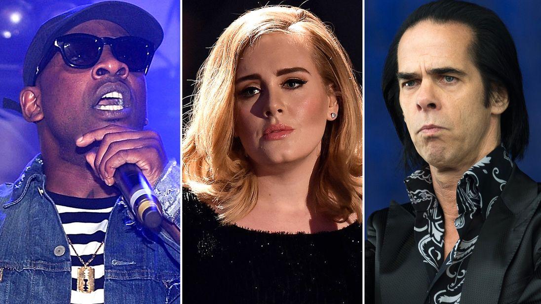Skepta, Adele and Nick Cave