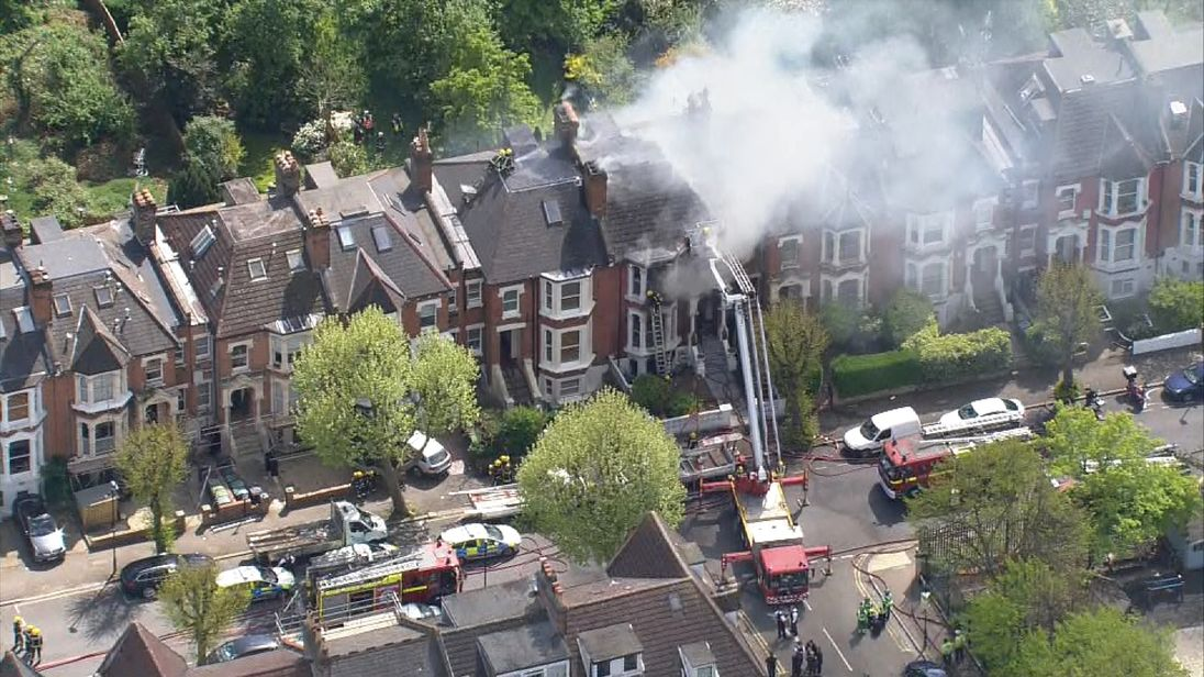 Police officer injured after explosion at residence in north London