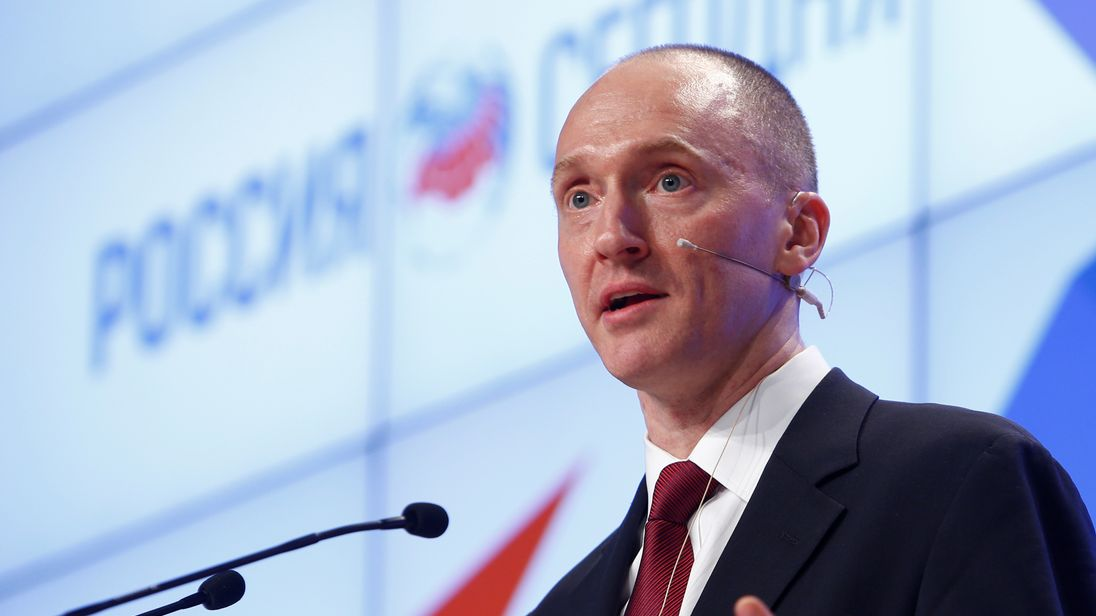 Carter Page giving a speech in Russia last year