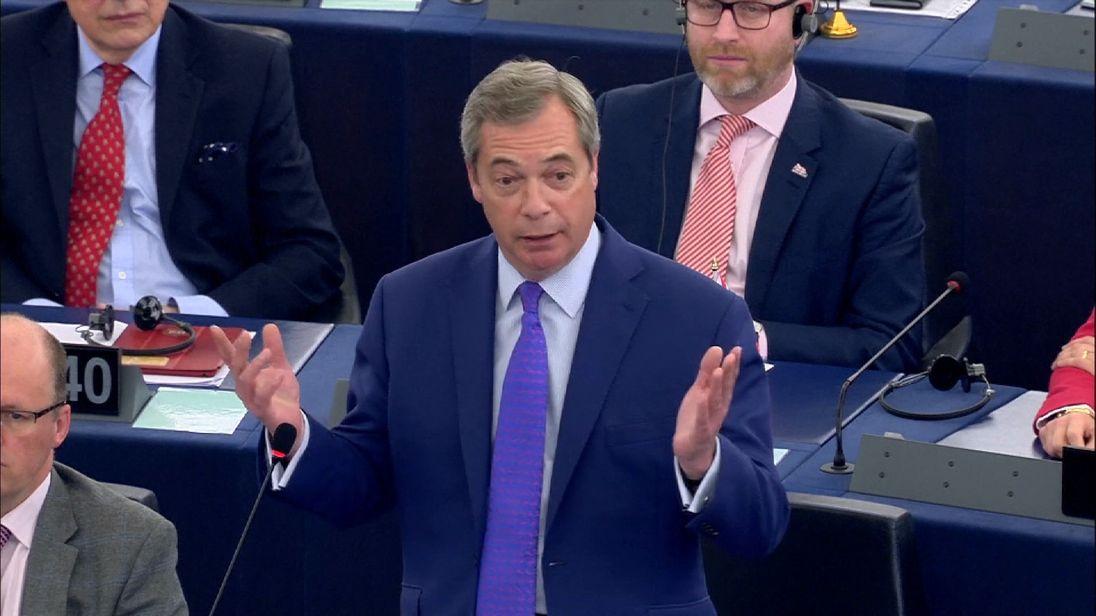 Nigel Farage admonishes the EU parliament