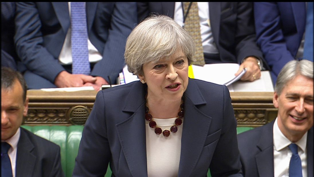 Theresa May refuses to guarantee triple lock on pensions will continue